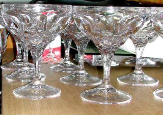 10 Tolle Bleikristall Gläser Große Sektschalen,  Klassischer Schliff Bild