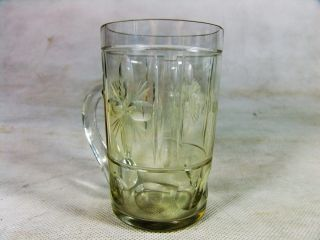 Schönes Antikes Bierglas Glas Humpen Mit Aufschrift Hedwig Andenkenglas Bild