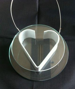 Vase Designer Glasvase Herz Rund AufhÄngbar Glas Metall 15,  5 X 4 Cm Ovp Bild