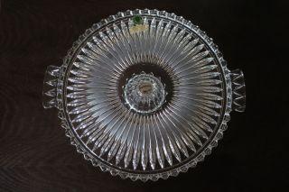 Walther Kristallglas Tortenplatte Mit Fuß 70er Jahre Gut Erh.  D: 30 Cm H: 6,  5 Cm Bild