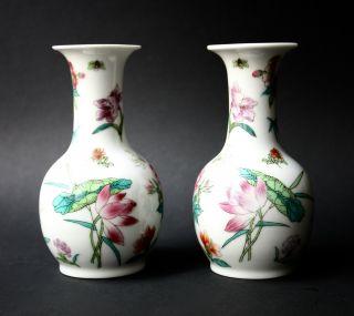 Famille Rose Porcelain,  Lotos Peony Wisteria Lily,  China Mark Jingdezhen Bild