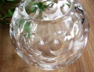 Schwere Kugel - Förmige Kristall - Glas - Vase Nachtmann? Ca.  1,  2 Kg Punkte - Muster Bild