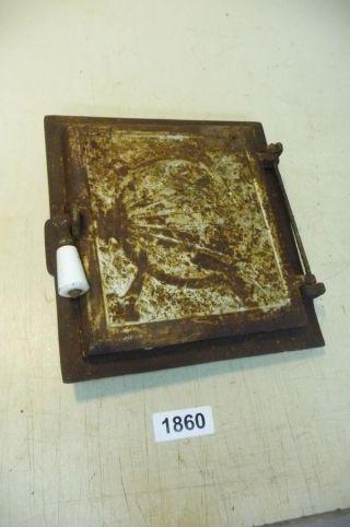 1860.  Alte Ofentür Eisen Bild