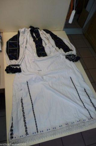 1275.  Altes Leinen Kleid Trachtenkleid Siebenbürgen Bild