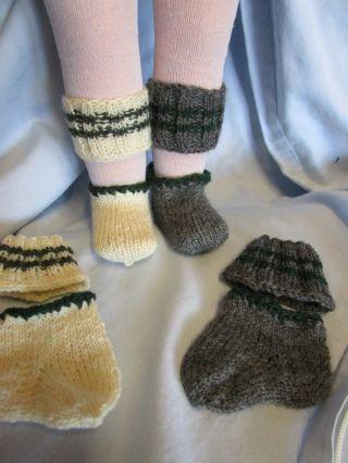 1x Loferl - Stulpen Und Socken - Für Trachtenmode - Zu Lederhosen Für Puppen - Bild