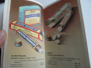 Altes Heft Der Fa Bayer Ca 1930 Abbildungen Wichtiger Bayer Präparate Arznei A - Z Bild