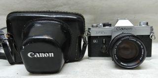 Fotoapparat Spiegelreflex Canon Ftb Ql,  Objektiv Fd 50 Mm 1 : 1.  4 S.  S.  C.  (5) Bild