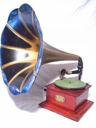 Uraltes Trichter Grammophon,  Veni Vidi Vici Soundbox,  Ca.  1920er Jahre Bild