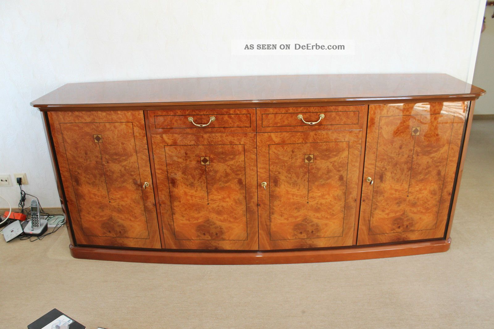 Italien design kommode sideboard nu baum wurzel hochglanz for Design kommode