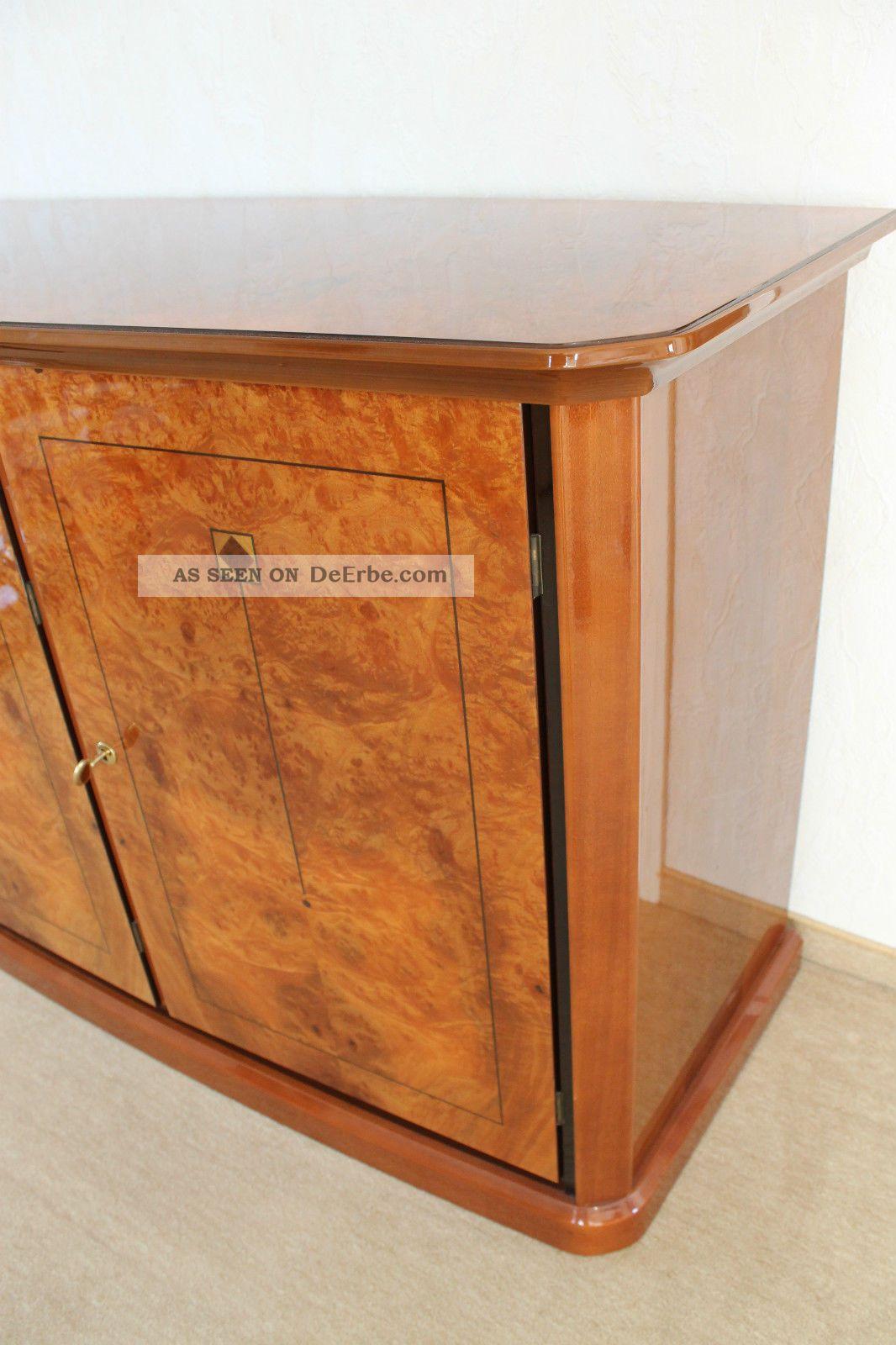 italien design kommode sideboard nu baum wurzel hochglanz intarsien schubladen. Black Bedroom Furniture Sets. Home Design Ideas
