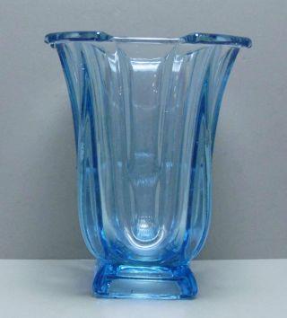 Jugendstil Vase Tischvase Pokal Hellblau 16 Cm /r4/2 Bild