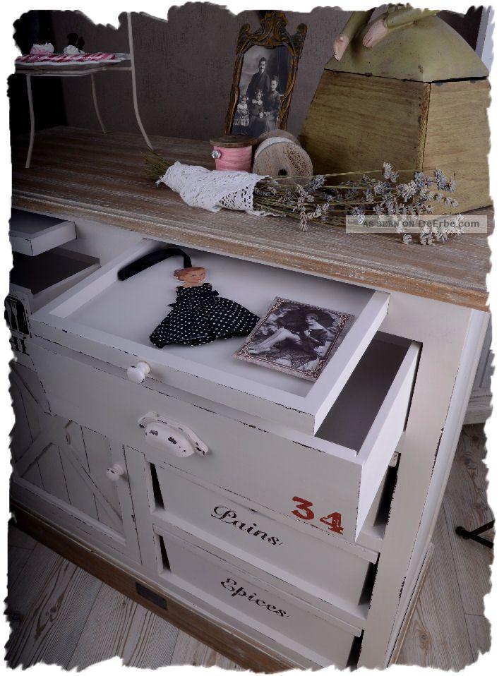 sideboard weiss anrichte schubladen kommode franz sischer landhausstil. Black Bedroom Furniture Sets. Home Design Ideas