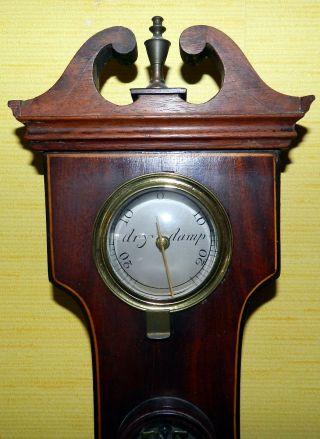 Barometer Von J.  Verga,  Bath,  Mahagoni,  England Um 1900 Bild