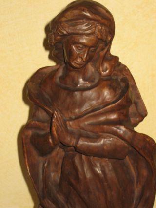 Madonna - Mutter Gottes - Geschnitzte Holzfigur - Top - Bild