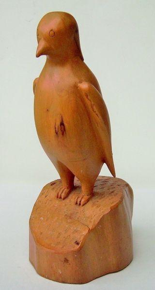 Holzfigur Vogel Ca 21,  5 Cm Hoch Bild