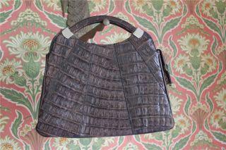 Henkeltasche,  Krokooptik,  Vintage,  Leder,  Wohl Um 1960,  Oma Handtasche Bild