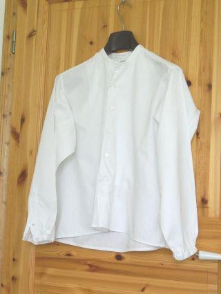 Antikes Herrenhemd Gr.  39 Weiß Smokinghemd True Vintage Bild