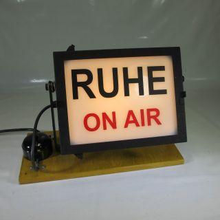 50er Jahre Ruhe On Air Tischlampe Wandlampe Hinweislampe Studiolampe 220v Bild