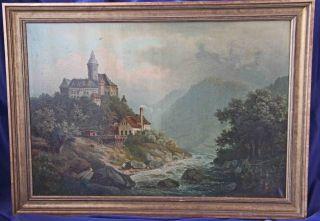 Alte Meister - Landschaft Mit Burg - Bild