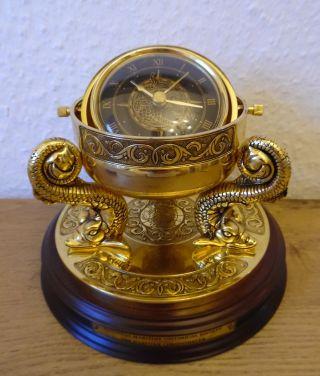 Schiffschronometer Massiv Messing Hippokampos Monogramm Franklin Bild