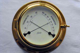 Schiffs Thermometer Hygrometer Schatz Messing Maritime Schiff Nautika Bild