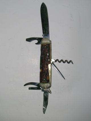 Jagd - Taschenmesser Hirschhorn Hartkopf & Co.  Solingen Bild