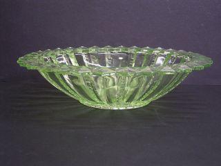 Pressglas: Uranglas - Schale/fruchtschale/obstschale: Brockwitz