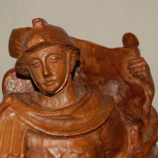 Alte Holz Schnitzerei - Heiliger Florian Schutzpatron Der Feuerwehr - Geschnitzt Bild