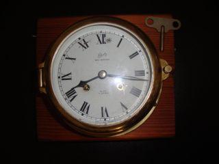 Originale Schatz Midi Uhr - Mechanische Glasenuhr / Schiffsuhr Mit Glasenschlag Bild