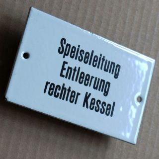 Speise Leitung Kessel Altes Emailschild 50er Top,  Rar Hotel Restaurant Gasthof Bild