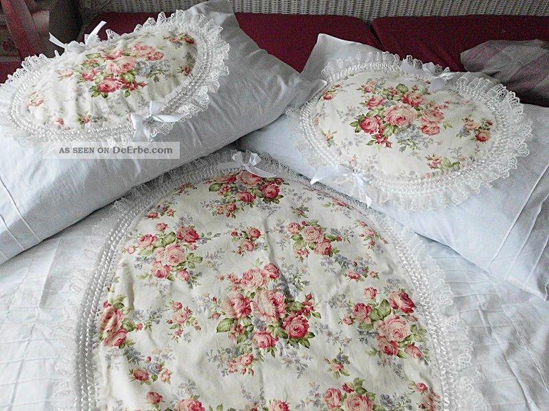 eine 4 teilige bettw sche rosenmedaillon shabby chic. Black Bedroom Furniture Sets. Home Design Ideas