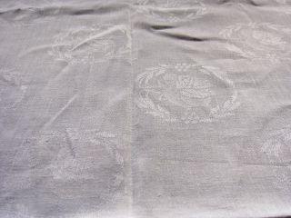 Wunderschöne Antike Tischdecke - Leinen - Jugendstil - Nachlass Von Oma - Rosen Bild