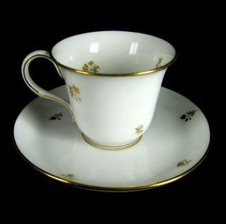 Sevres Porzellan Mokkatasse,  Untertasse Art Deco 1925 Golddekor France Rare Bild