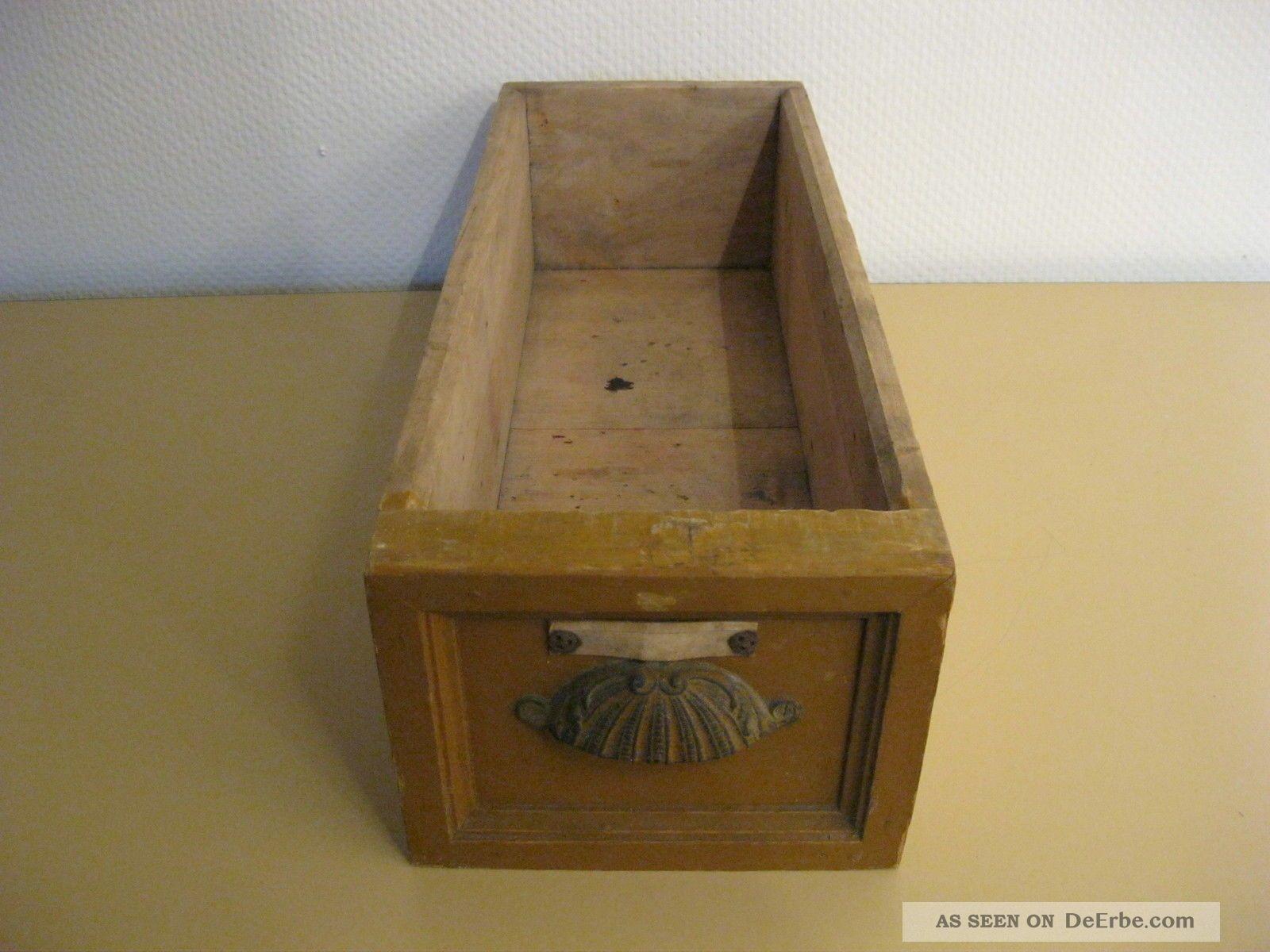 Alte Holzschublade Schublade Holz Tante Emma Laden Apotheke Historismus Ca.  1900 Kaufleute & Krämer Bild
