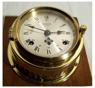 Wanduhr Schiffsuhr Ships Bell Clock Glasenuhr Wempe Top Bild