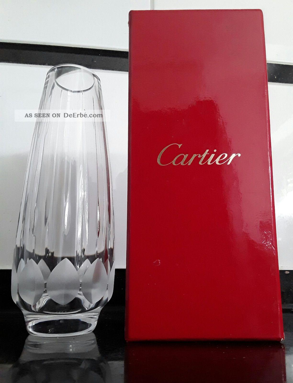 Cartier Vase Kristall Mit Box Cristal