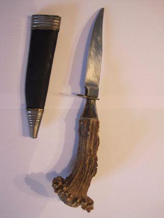 Ackermännchen Hirschhornmesser,  Jagdmesser,  Trachtenmesser Mit Lederscheide Bild