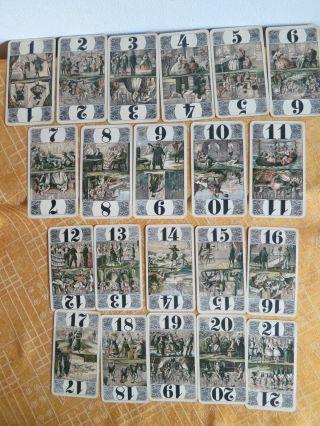 Antikes Kartenspiel_21 Karten_art Déco Um 1935_tarock_cego - Spiel Bild