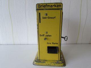 Seltener Doll Briefmarkenautomat Mit Schlüssel Bild