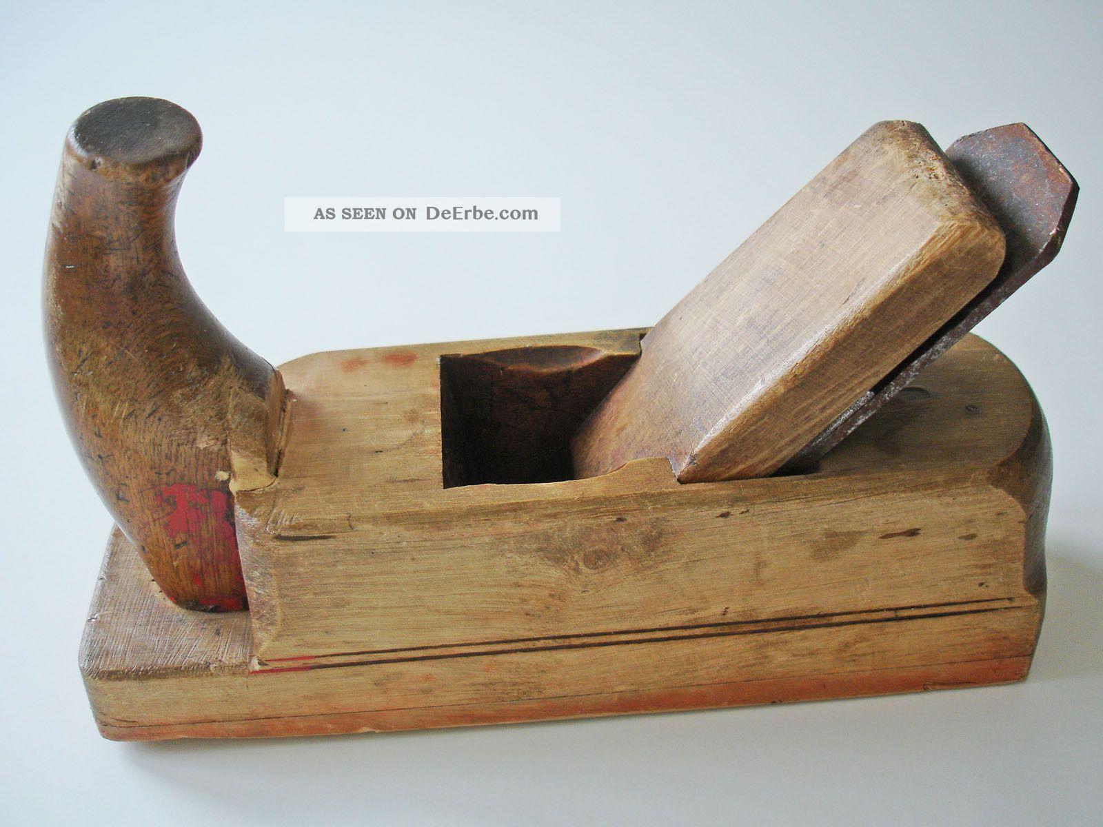 Nr.  2 Alter Hobel 48 Mm Tischlerhobel Handhobel Holz Zimmermann Tischler Vintage Zimmermann Bild