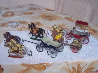 Kutschen Und Pferde - Zinn Zum Restaurieren Bild