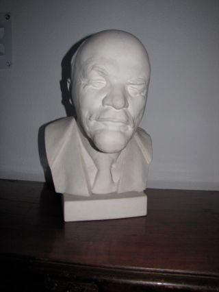 Gips Skulptur Kopf Von Lenin,  Aus Den 50igern,  Riesig 40cm Hoch Toll Bild
