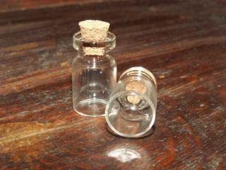 5 Flaschen Glas Fläschen Milchflaschen Flasche Erinnerungen Urlaub Sand Korken Bild