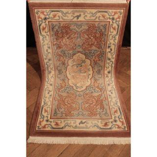 Edeler Handgeknüpfter Orient Teppich China Art Deco Old Carpet Tappeto 170x95cm Bild