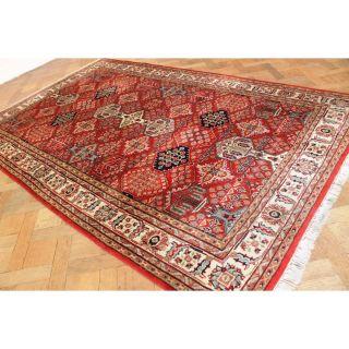 Schöner Handgeknüpfter Orient Blumen Teppich Saruqh Nain Rug Carpet 300x195cm Bild