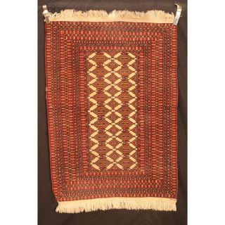 Antik Handgeknüpft Orient Teppich Udssr Turkman Jomut Old Rug Carpet 150x100cm Bild