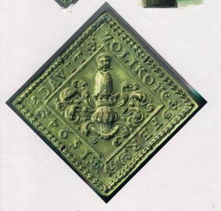 Sehr Alter Siegelstempel über 400 Jahre Alt Bild