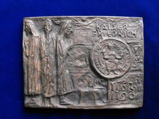 V.  Miller Bronze Relief Kaiser Friedrich 1152 - 1190 Barbarossa Bild