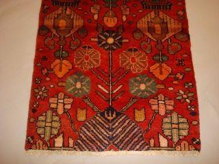 Handgeknüpfter Alter Orient Teppich Läufer Persischer Malayer Wolle 265x65cm Bild