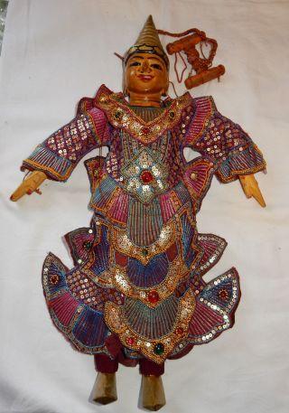 Thai Marionette / Thai Puppet / Tempeltänzer Marionette Thailand Bild